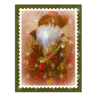 victorian santa postcard
