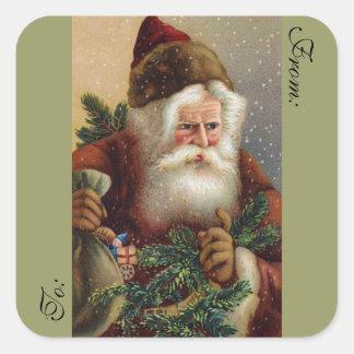 Victorian Santa Stickers