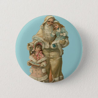 Victorian Santa - Vintage Art Button