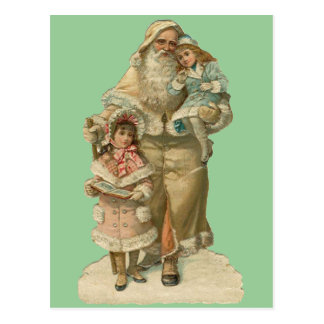Victorian Santa - Vintage Art Postcard