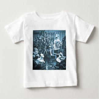 Victorian Santa Vintage Stereoview Cyan Baby T-Shirt