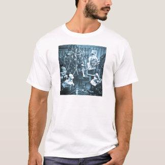 Victorian Santa Vintage Stereoview Cyan T-Shirt