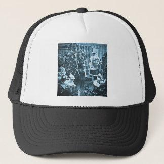 Victorian Santa Vintage Stereoview Cyan Trucker Hat