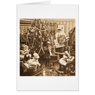 Victorian Santa Vintage Stereoview Sepia Card