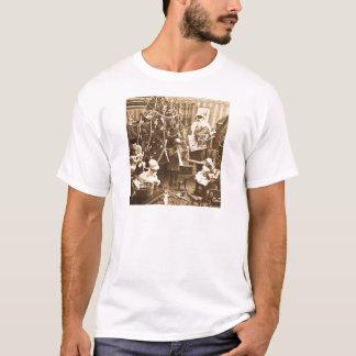 Victorian Santa Vintage Stereoview Sepia T-Shirt