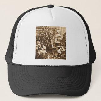 Victorian Santa Vintage Stereoview Sepia Trucker Hat