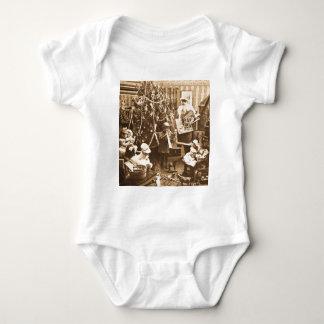 Victorian Santa Vintage Stereoview Sepia Infant Creeper