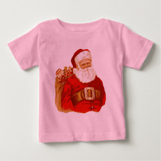 Victorian Santa with bag of toys Baby T-Shirt