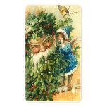 Victorian Santa y saludos de Fae mini o etiquetas  Plantillas De Tarjetas De Visita