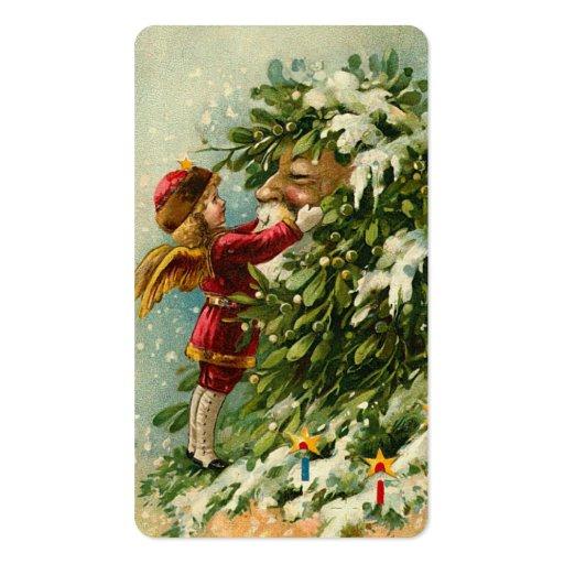 Victorian Santa y saludos de Fae mini o etiquetas  Plantillas De Tarjeta De Negocio