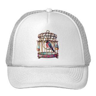 Victorian Scrap Die cut Bird Cage Trucker Hat