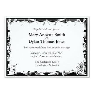 Victorian Scroll Wedding Invitation
