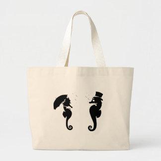 Victorian Seahorses Jumbo Tote Bag