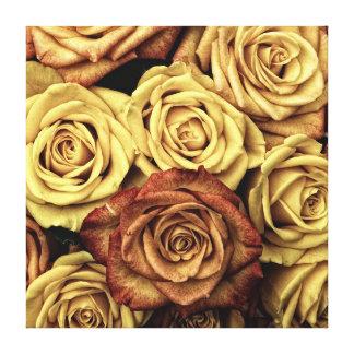 Victorian secado floral de los rosas del vintage e lona estirada galerias