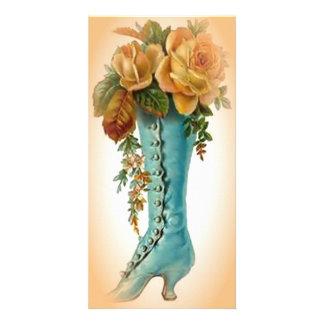 victorian shoe photo card