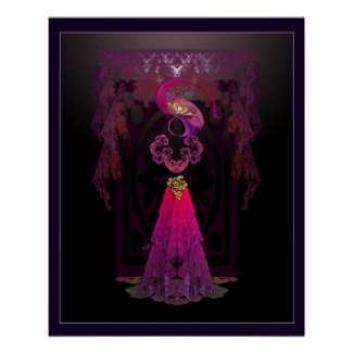 Victorian Sillhouette Print Perfect Poster