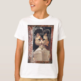Victorian Singing Cat Church Choir T-Shirt