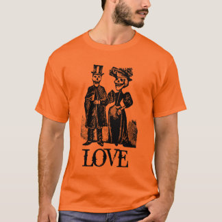 Victorian Skeleton Couple Goth Halloween Shirt