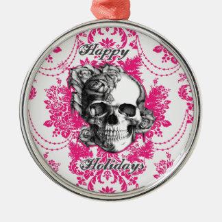 Victorian Skull Products. Classic PJ. Metal Ornament