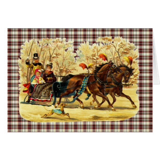 Victorian Sleigh Ride Christmas Stationery Note Card