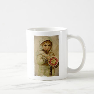 Victorian Snow Girl with Roses Coffee Mugs