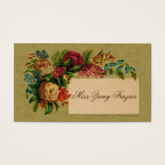Victorian Social Calling Card, 1870s Business Card