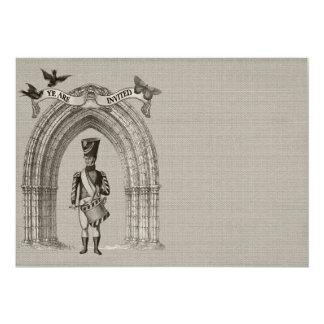 Victorian Soldier Wedding Invitations