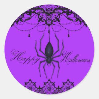 Victorian Spider Berry Halloween Stickers