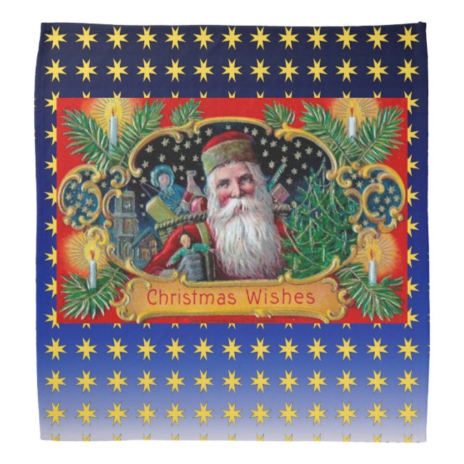 Victorian St. Nick with Gold Stars and Toys
