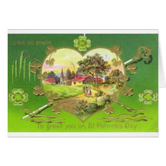 Victorian St. Patrick's Day Greeting Card