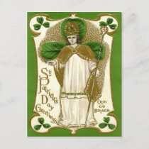 Victorian St Patrick's Day Holiday Postcard