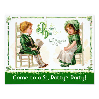 Victorian St. Patrick's Day Party Invitations! Card