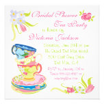Victorian Stacked Tea Cups Tea Party Bridal Shower Custom Invite