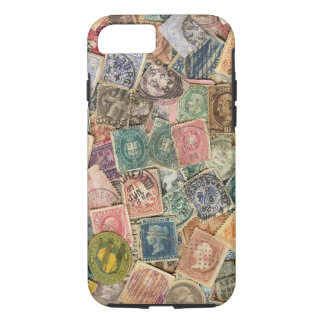Victorian Stamp Collage iPhone 8/7 Case