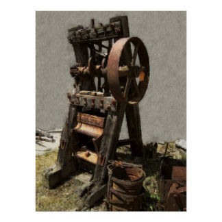 VICTORIAN STAMP MILL for GOLD MINING Poster