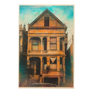 Victorian Standup for the MissionDistrict  SANFRAN Wood Wall Art