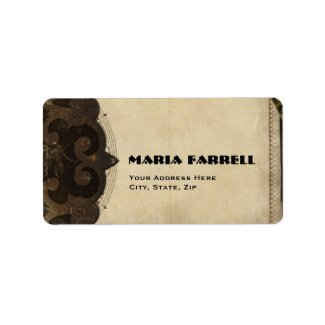 Victorian Steampunk Address Labels