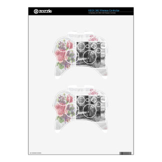 Victorian Steampunk Bike Gears Flowers Xbox 360 Controller Decal