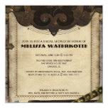 Victorian Steampunk Bridal Shower Invitation