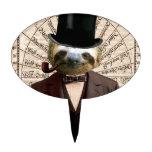 Victorian Steampunk del hombre de la pereza antrop Figura Para Tarta