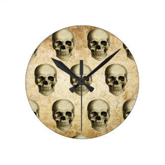 Victorian Steampunk Gothic Skulls Antique Vintage Clock