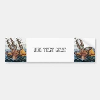 Victorian Steampunk Kraken Octopus Sea Creature Bumper Sticker