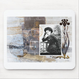 Victorian Steampunk Lady Watch Gears Vintage Photo Mouse Pad