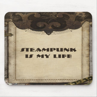 Victorian Steampunk Leather Like Mousepad