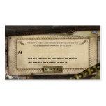 Victorian Steampunk Leather Wedding RSVP Cards