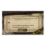 Victorian Steampunk Leather Wedding RSVP Cards Double-Sided Standard Business Cards (Pack Of 100)