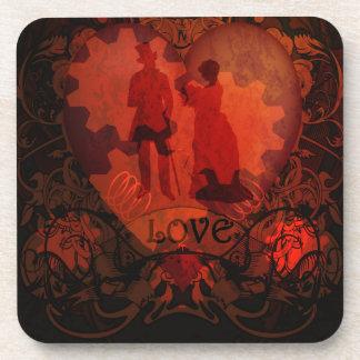 VICTORIAN STEAMPUNK LOVE COUPLE COASTER