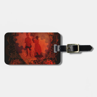 VICTORIAN STEAMPUNK LOVE COUPLE TAG FOR LUGGAGE