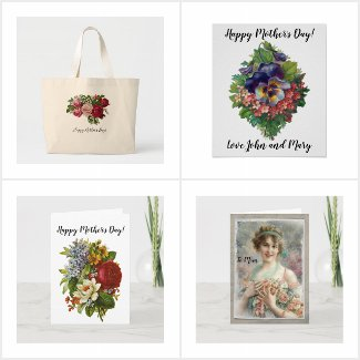 Victorian Steampunk Mother's Day Cards & Gifts