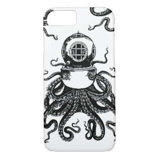 victorian Steampunk Octopus Kraken Diving Helmet! iPhone 7 Case